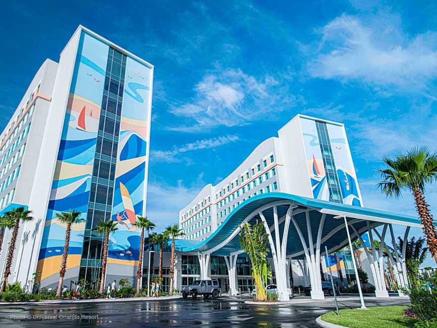 El ingreso al nuevo hotel de Universal Orlando