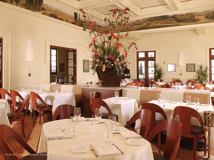 Uno de los restaurantes del hotel
