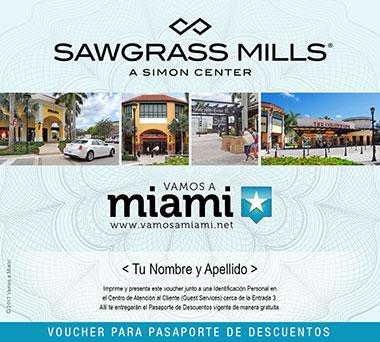El Sawgrass tiene una particularidad y es que tiene su propia CUPONERA DE DESCUENTOS! Esta cuponera se puede obtener en el centro de atención al cliente localizado dentro del mall y .