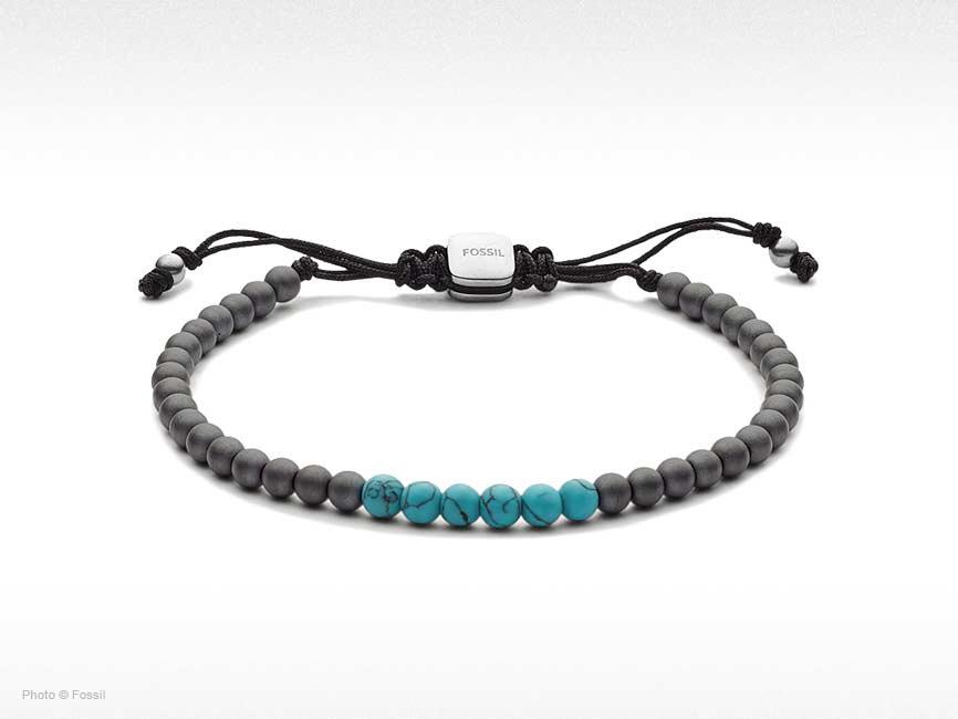 Turquoise and Hematite Beaded Bracelet