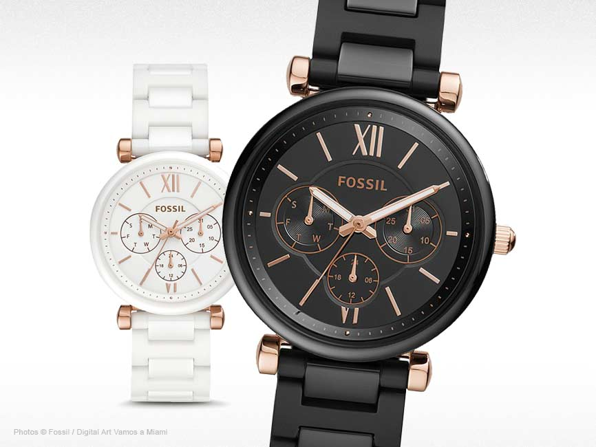Carlie Multifunction with Ceramic Watch