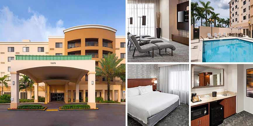 Hoteles cercanos Dolphin Mall - Courtyard by Marriott Miami at Dolphin Mall