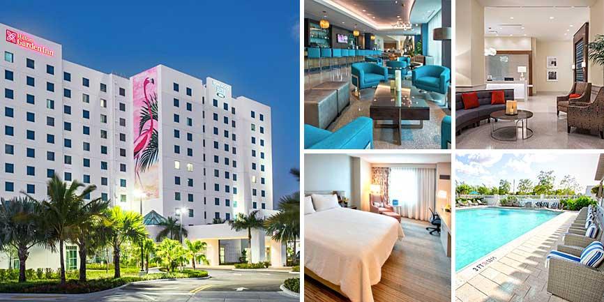 Hoteles cercanos Dolphin Mall - Hilton Garden Inn Miami Dolphin Mall