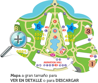 Mapa Art of Animation Resort