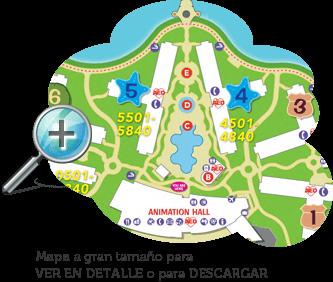 Mapa Art of Animation Resort