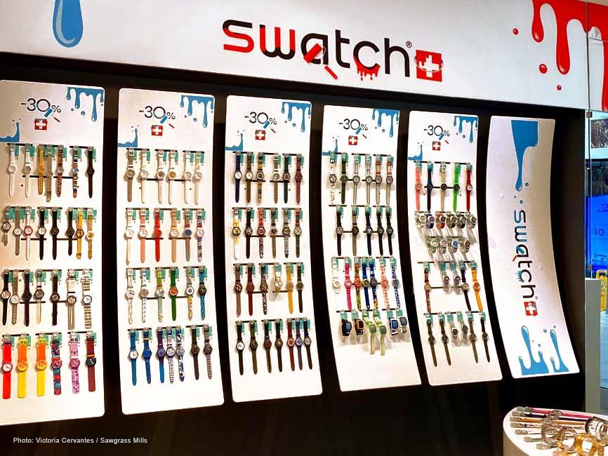 La amplia oferta de Swatch en Sawgrass Mills